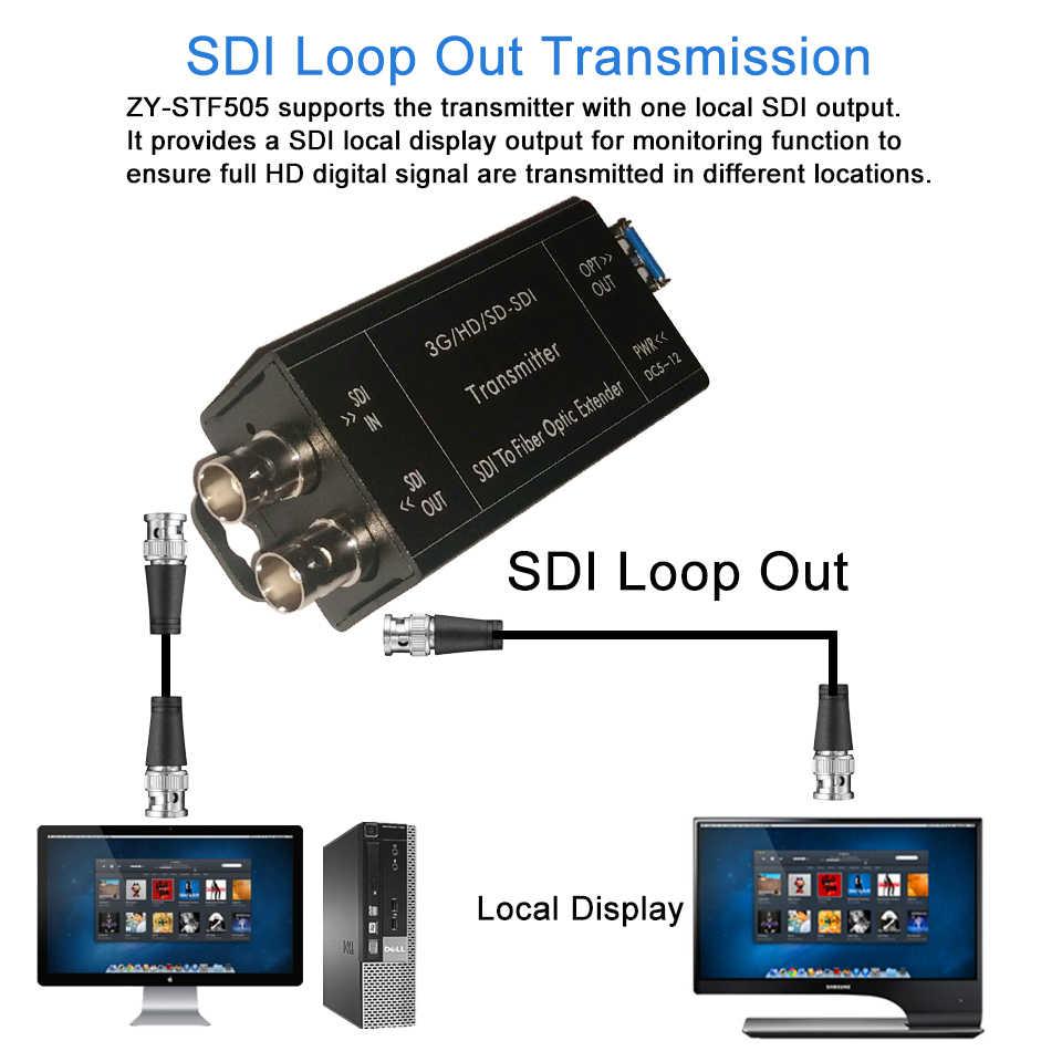 2019 Terbaik 20 KM HD SDI Fiber Converter 1080i BNC Koaksial Sinyal Optik Converter 1080 30Hz HD-SDI Fibra Optik converter Di SFP