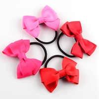 100 ピース/ロットダブル層リボンヘアバンドのための弓ネクタイアップ子供の髪美容帽子 FS10