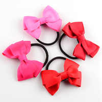 100pcs/lot Double Layers Ribbon Hair Bands With Bows For Girls Tie Up Hair Kids Hair Beauty Headwear FS10