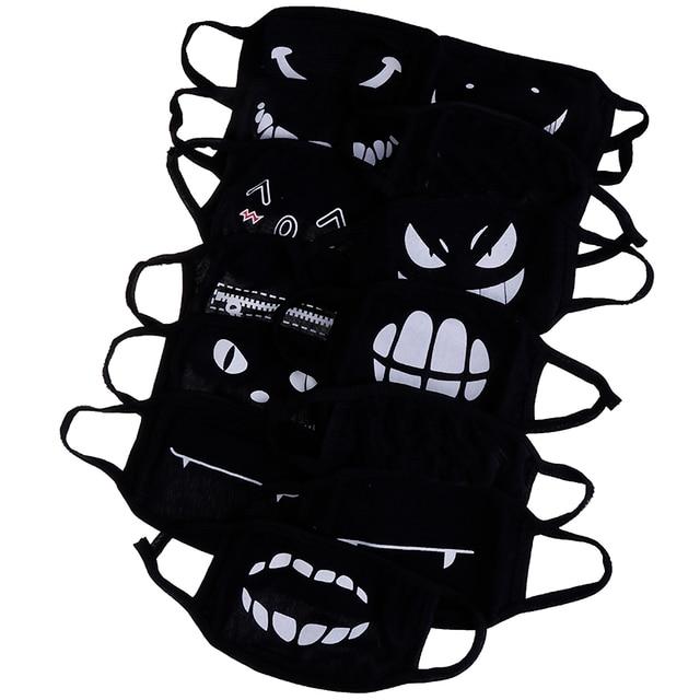 1PC Black Anime Cartoon Kpop Lucky Bear Unisex Muffle Face Mouth Masks Kawaii Cotton Dustproof Mouth Face Mask 12 Styles 3