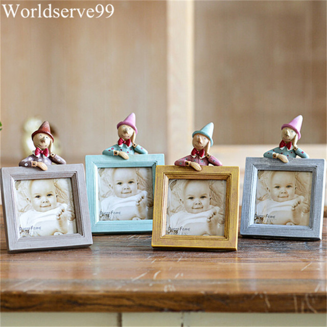 2016 3inch cute doll resin baby picture frames home decor photo frames bridal shower wedding favor gifts - Home Decor Gifts