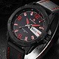 2017 nuevo lujo marca naviforce hombres del ejército militar hombres de los relojes de cuero reloj hombre reloj de pulsera deportivo de cuarzo relogio masculino