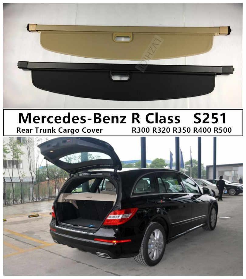4pcs Dark Smoke Out-Channel Rain Guard For Mercedes-Benz R320 R500 R63 2006-2010