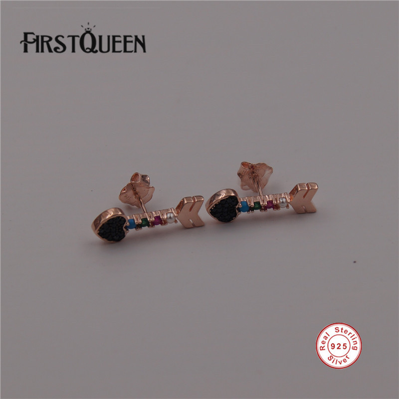 FirstQueen Solid 925 Silver Animal Stud Earrings For Women Gift Fine Jewelry Factory Retail & Wholesale
