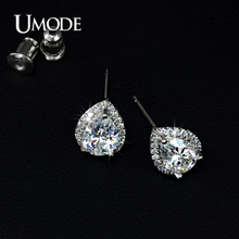 UMODE Fshion Water Drop Design Top Quality Earrings Cubic Zircon Stud Earring for Women Boucle D'oreille Pendientes Mujer UE0026