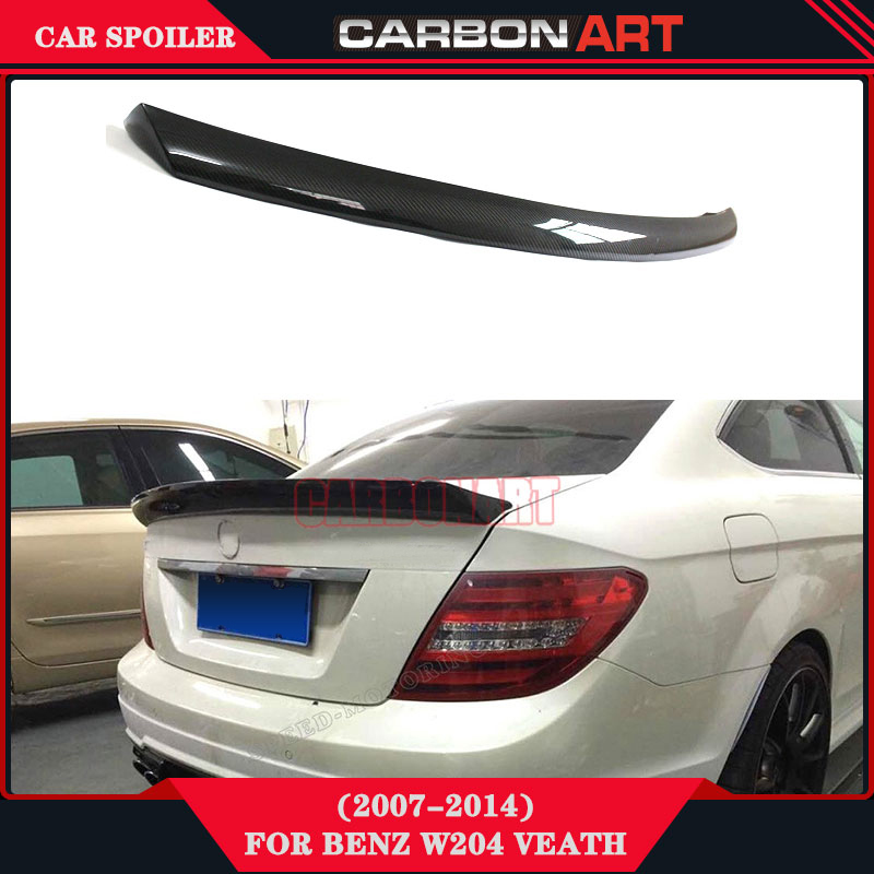 carbon fiber car trunk rear spoiler bootlid wing for w204. Black Bedroom Furniture Sets. Home Design Ideas