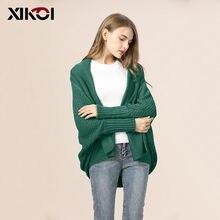 9d512d3ee21c XIKOI estilo coreano suéter de gran tamaño, Cardigan ropa femenina de manga  larga chaquetas de las mujeres Otoño Invierno Chaque.