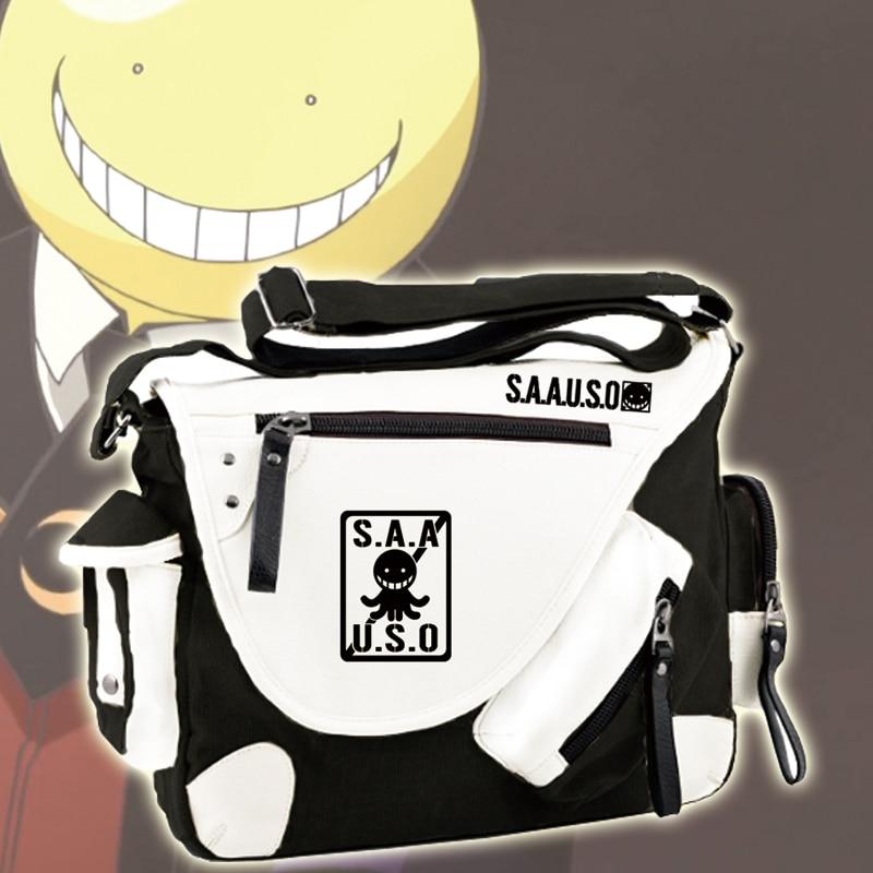 Hot Anime Assassination Classroom Messenger Bag Ansatsu Kyoushitsu Cosplay Students Shoulder Bag Travel Laptop Satchels anime assassination classroom cosplay fashion casual men and women travel bags birthday gift
