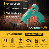 GK 361U 3.6V Li ion USB Hot Melt Glue Sticks Glue Gun for Home DIY and Maker