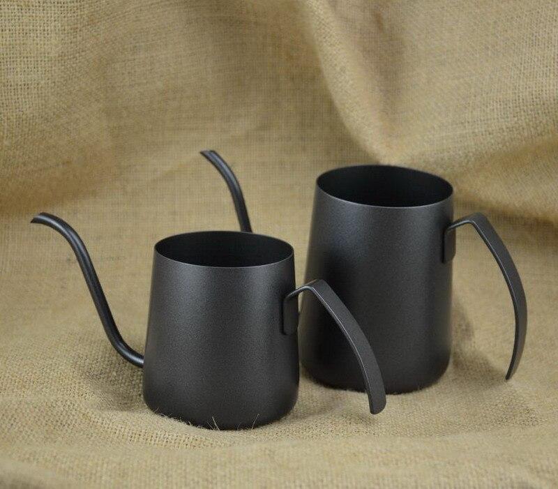 가정용 커피 손 펀칭 냄비 두껍게 304 스테인레스 스틸 긴 입 냄비 요리 얇은 입 커피 냄비