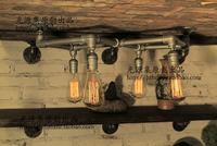 Water Pipes Wall Lamp Light Pipe Industry Loft Retro Coffee Bar Decorated With Dragon Wall Lamp