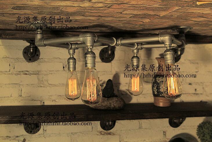 Tuberías de agua tubos de luces desván vintage barras de café decoraciones de dragón lámparas de pared pastillas M