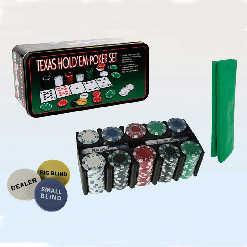 New Hot Super Deal 200 Texas Holdem Poker Set Bargaining Poker Chip Set Blackjack Table Cloth Blinds Dealer Poker Cards qenueson in Poker Chips from Sports Entertainment