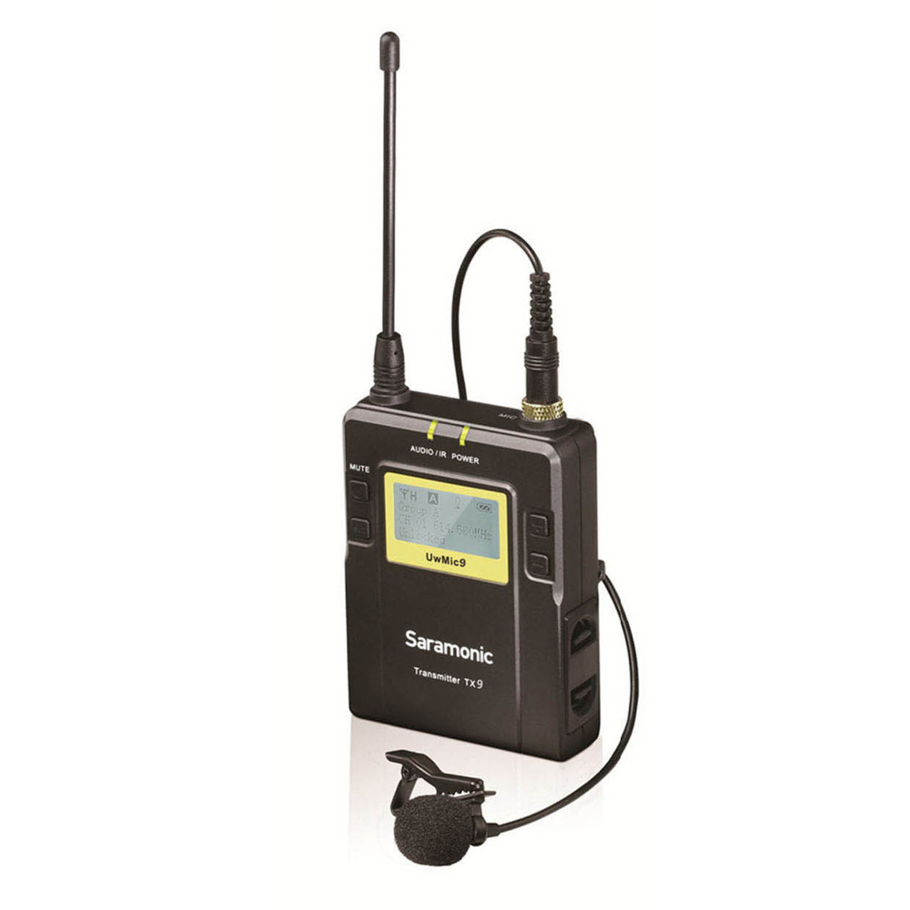 Saramonic 96-Channel Bodypack Transmitter Unit (TX9) With Lavalier Microphone For The UwMic9 System
