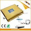 2g 3g LCD dual band impulsionador WCDMA 2100 gsm 900 Sinal de Telefone celular Impulsionador Repetidor com Interior Ao Ar Livre antenas