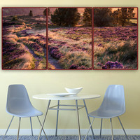 free shipping,3D DIY,Full,Diamond painting,landscape,United 3 pieces,Home Decoration