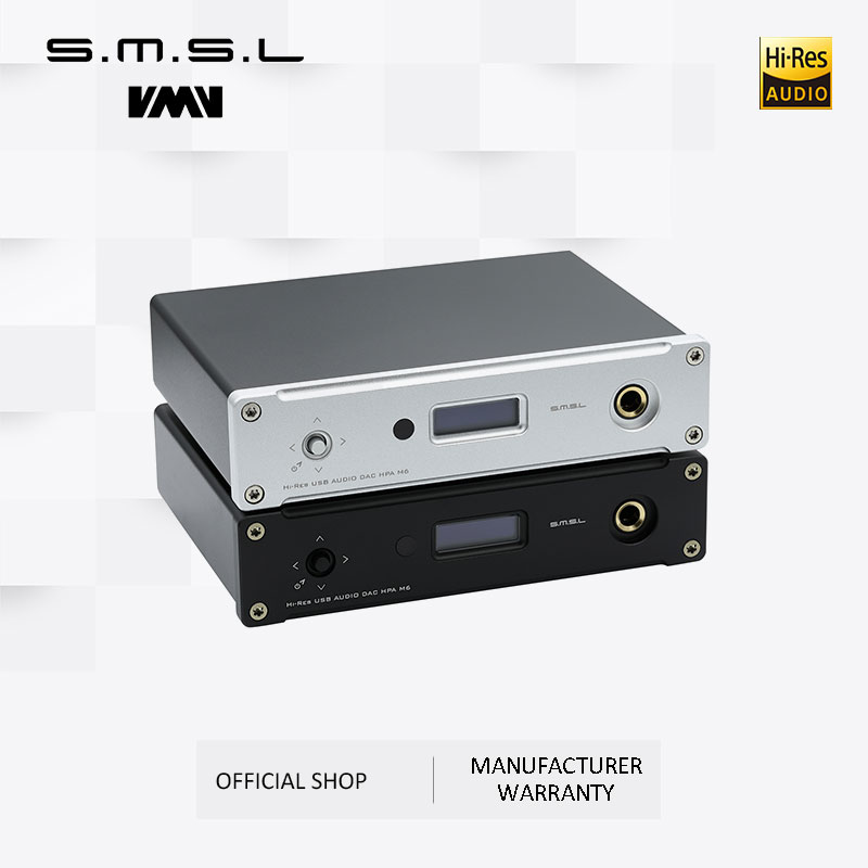New SMSL M6 HI-FI DAC AK4452 Decoder Native DSD512 Amp Asynchronous Multifunction with 32bit/768kHz USB Optical Coaxial Input
