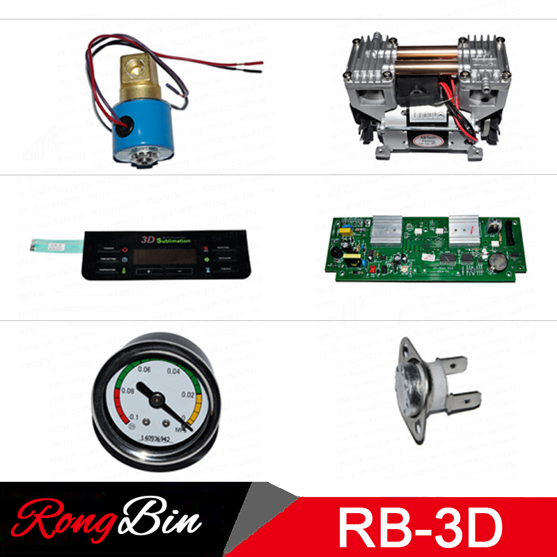 все цены на Vacuum Pump/Circuit Board/Control Board/Baking Tray/Electromagnetic Valve/Button/Power Plug for 3D Sublimation Vacuum Machine онлайн