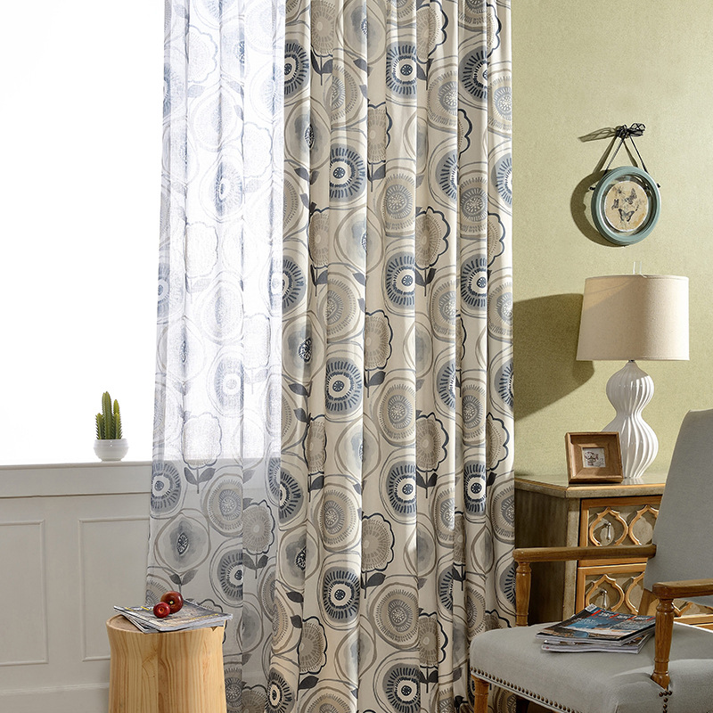 Modern Curtains For Living Room Printed Quality Jacquard Curtain Custom Made Gordijnen Cortinados De Sala Rideaux Chambre image