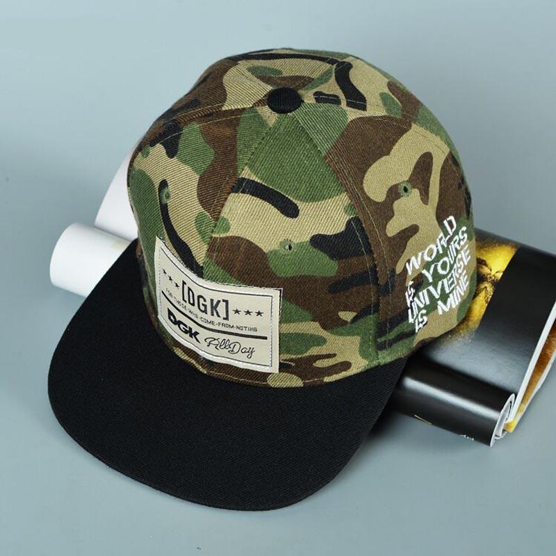 Brand DGK Snapback   Caps   Flat Hip Hop   Baseball     Cap   Casquette Gorras Hat Camouflage Adjustable Planas Hats For Men Women