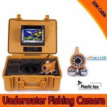 (1 Set) 30M Cable dual-pendant HD Underwater fishing camera 24PCS LEDs night visible surveillance system Fish finder CMOS lens
