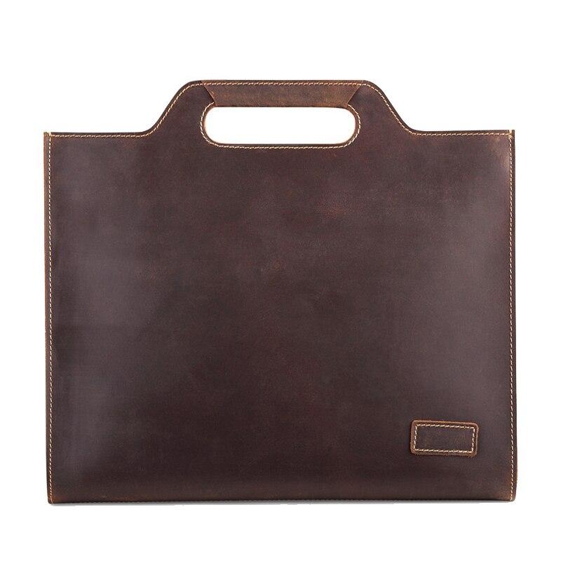 Simple Célèbre Marque D'affaires porte-documents pour homme De Luxe En Cuir 13' pochette d'ordinateur Homme sac à bandoulière bolsa maleta hommes de sac de messager