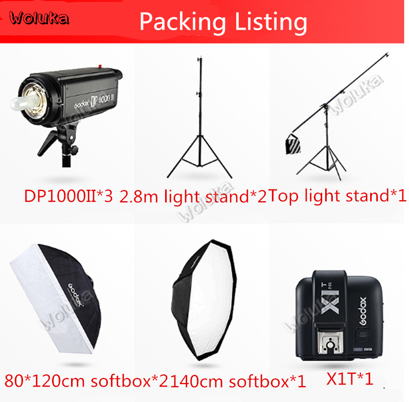 Godox DP1000WII Indoor Photography Spotlight Portrait photo fill light liangying formation shed shooting suit lighting CD50 T03