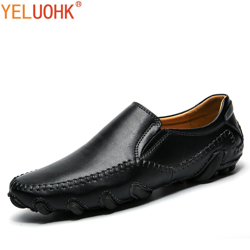Genuine Leather Men Shoes High Quality Brand Men Loafers Slip On Leather Shoes Men штанишки детские lucky child 28 11д 2шт белый р 74 80