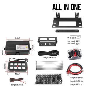 Image 4 - 8 Gang LED anahtarı paneli ince dokunmatik kontrol Panel kutusu ile kablo demeti ve etiket çıkartmaları araba tekne karavan