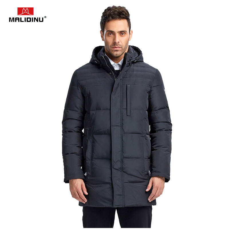 MALIDINU 2018 New Men Duck   Down   Jacket Winter Jacket Thick Long   Down     Coat   Brand European Size Mens   Down     Coat   Parka Free Shipping