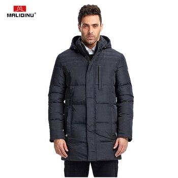 MALIDINU 2020 New Men Duck Down Jacket Winter Jacket Thick Long Down Coat Brand European Size Mens Down Coat Parka Free Shipping цена 2017