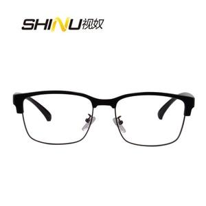 Image 2 - SHINU marki progresywne wielu ogniskowa obiektywu okulary do czytania pół ramką zobacz w pobliżu dalekiego + 100 + 150 + 200 + 250 + 300 + 350 SH018