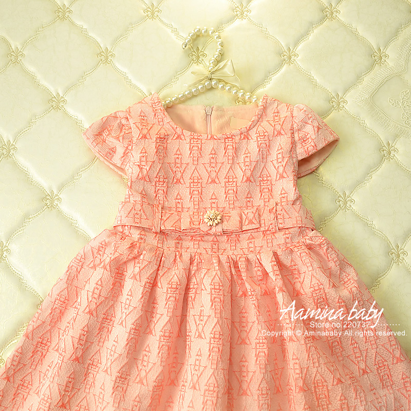[Aamina]Girls Dress Winter 2016 Brand Baby Girls Clothes sashes Kids Dresses European Children Dress Princess Costume 2-6Y #1213