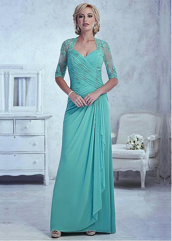 Elegant V-Neck Appliques Half Sleeve A-Line Mother of the bride dresses Plus Size Long Evening Dress Vestido mae da noiva 2019