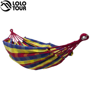 Image 3 - High Strength Thicken Single Canvas Fabric Hammock Garden Sleeping Casual Hamak  Outdoor Hamac  Swing Hamaca Travel 200*100cm