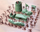 100PCS 4CM Plastic Figurine Action Figure Green Red Toys Army Men Kid Toy Soldiers Military Hobbies For Boys Children Gifts