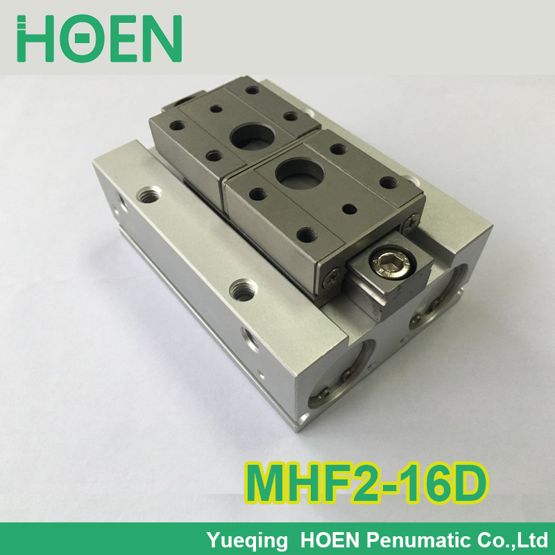 MHF2-16D SMC type air pneumatic gripper MHF series with strong gripping force MHF2 16D high quality double acting pneumatic gripper mhy2 25d smc type 180 degree angular style air cylinder aluminium clamps