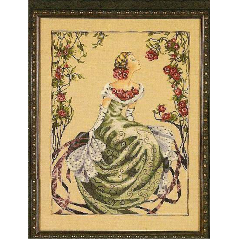 2014 new cross stitch embroidery kits counted patterns 14ct unprinted human European series beauty fairy flowers
