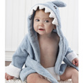 5Color Cartoon Animal Lmages Super Soft Thick Cotton Towel Baby Bathrobe Coat Children Tracksuit Bathrobe