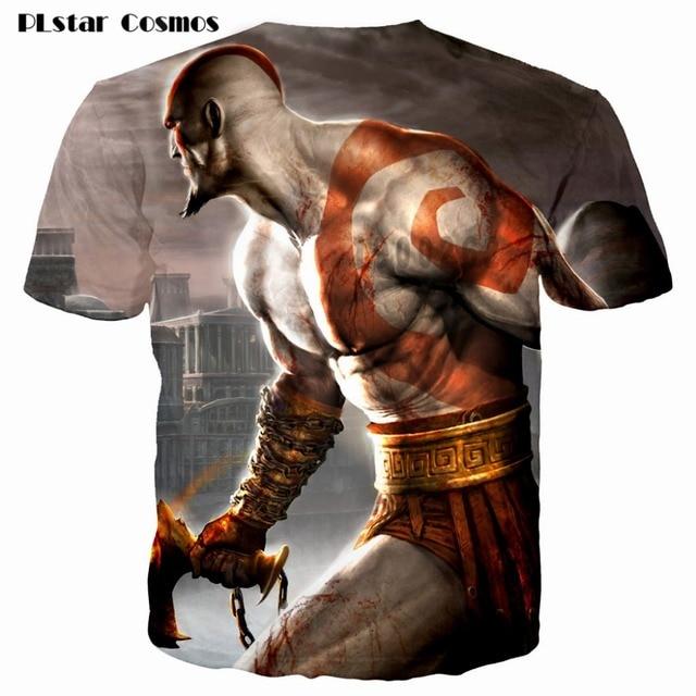 Kratos 3D T shirt Men God of War print Short Sleeve fashion tshirt summer t shirts men/boy homme Camisetas plsus size S-5XL 3