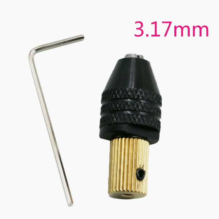 3.17mm Electric motor shaft Mini Chuck Fixture Clamp 0.3mm-3.5mm Small To Drill Bit Micro Chuck fixing device rapid fixture clamps fixture clamp fastening compactor gh101a