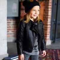 Kids Leather Jacket High Quality Children's PU Imitation Leather Jacket Fashion Boy & Girl Coat Spring Fall Coat For Girl 3 12 Y