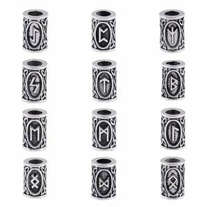 set Viking beads charms for Hair Rune necklace 1pcs design