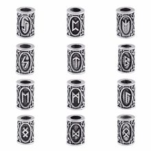 24 style full set Viking Runes beads charms for Beards or Hair TIWAZ TYR Sol rune Odal Futhark Rune necklace 1pcs of each design(China)