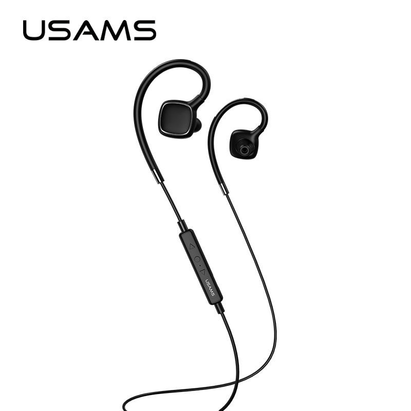 USAMS FC Sport Wireless Earphones Stereo Bluetooth Wireless Sports Earphone Headset with MIC Microphone for iphone Samsung new dacom carkit mini bluetooth headset wireless earphone mic with usb car charger for iphone airpods android huawei smartphone
