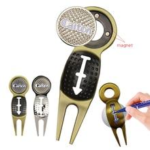 1 шт. ремонтный инструмент для гольфа Golf Divot ремонт магнитный инструмент с Гольф-маркер брелок вкладыш Клип Прямая поставка