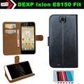 Aleta Caso do Smartphone Couro Slip-resistente para DEXP Ixion ES150 Fit Bolsa Capa Cartão Slots Wallet 7 Cores