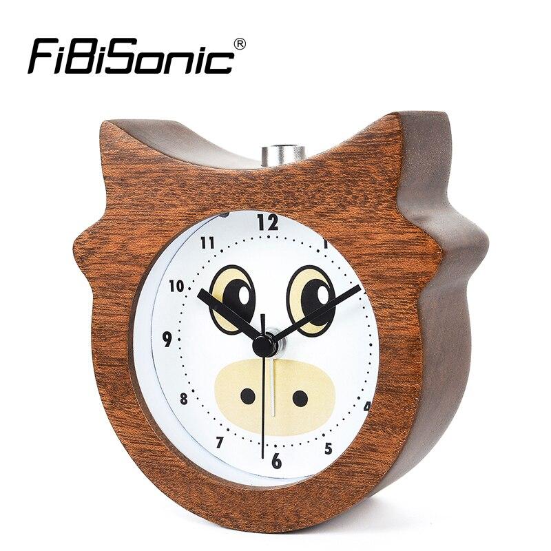 Chinese Zodiac Taurus Bull Modern Snooze Backlight Wood Alarm Clock For Gift Wooden Desktop Table Alarm Clocks Saat Despertador