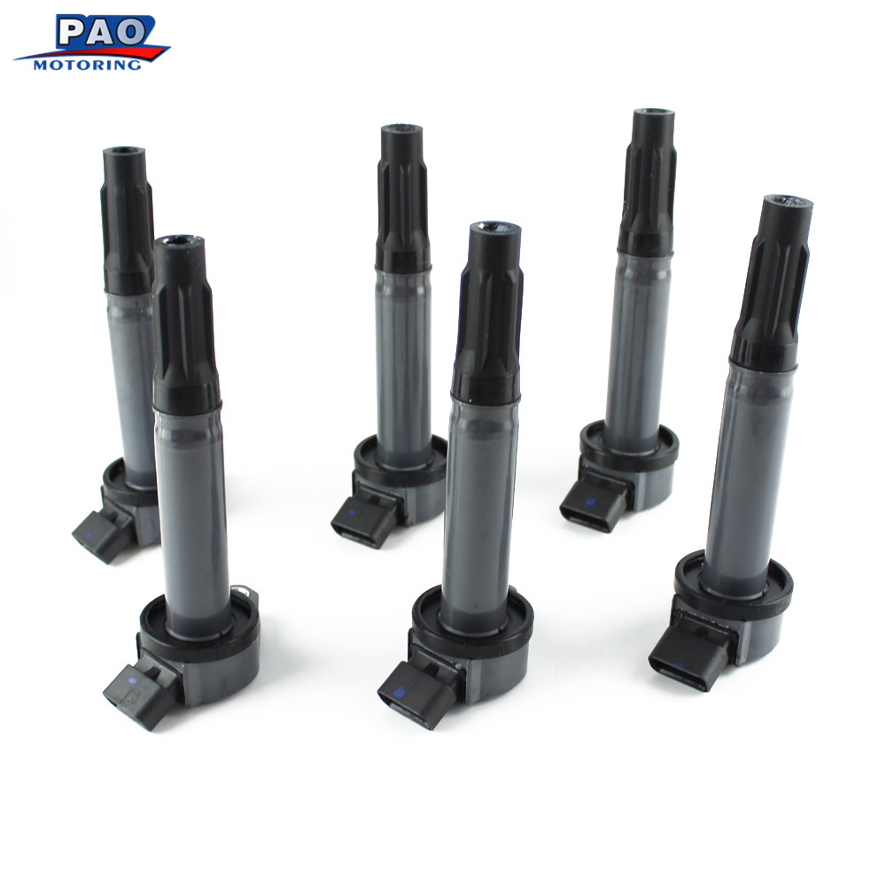 6 PCS Ignition Coil Standard Pack For Toyota Lexus RX330 350 ES350 Camry Avalon Sienna 90919-A2002,90919-02251,UF487/12430,5C165 купить дешево онлайн