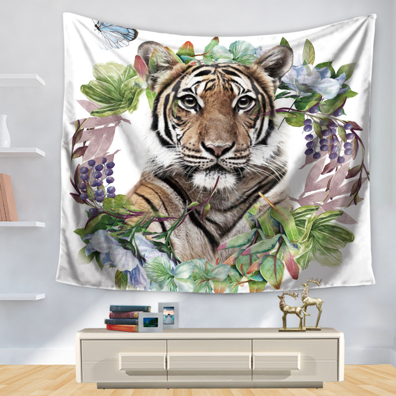 Yoga Towel Tiger: Aliexpress.com : Buy CAMMITEVER Tiger Tapestry Hippie Wall